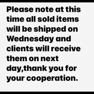 Please ask for size availability on any items .